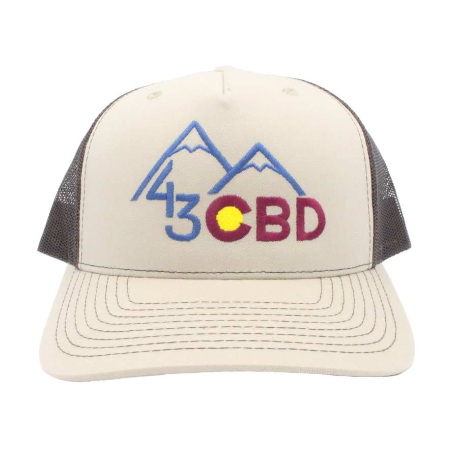 khaki cbd hat front
