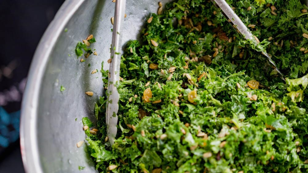 cbd kale salad snack